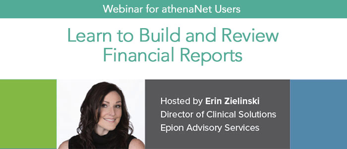 Athena Users: Learn to Build and Review Financial Reports